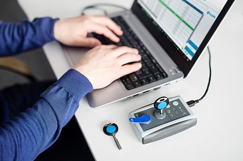 Verwaltung der Schließanlage iLOQ per Software